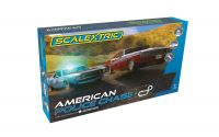 Autodráha SCALEXTRIC C1405P - American Police Chase (AMC Javelin Police car v Dodge Challenger) (1:32)