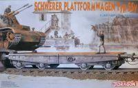 Model Kit vagón 6069 - SCHWERER PLATTFORMWAGEN TYP SSY (1:35)