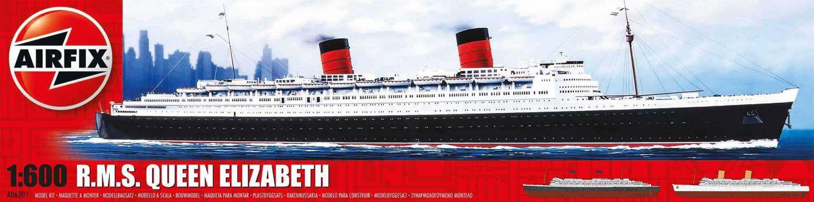 Classic Kit loď A06201 - RMS Queen Elizabeth 1 (1:600) Airfix Plastikové modely
