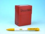 Krabička plastová - červená (75 karet) s texturou