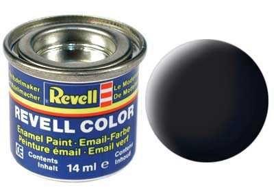 Barva Revell emailová - 32108: matná černá (black mat) Plastikové modely