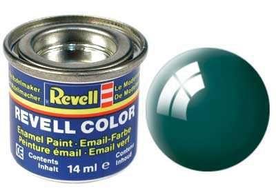 Barva Revell emailová - 32162: leská zelenomodrá (sea green gloss) Plastikové modely