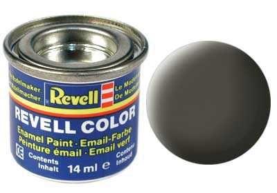 Barva Revell emailová - 32167: matná zelenavě šedá (greenish grey mat) Plastikové modely