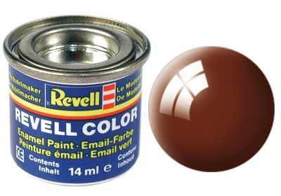 Barva Revell emailová - 32180: leská blátivě hnědá (mud brown gloss) Plastikové modely