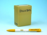 Krabička plastová - zlatá (75karet) s texturou