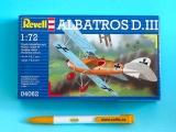 Plastic ModelKit letadlo 04062 - Albatross D.III (1:72)