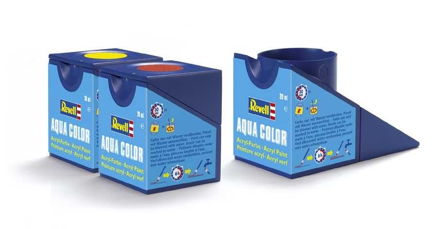 Barva Revell akrylová - 36106: matná dehtově černá (tar mat) Plastikové modely