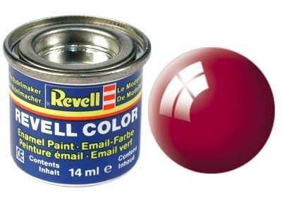 Barva Revell emailová - 32134: lesklá ferrari červená (Ferrari red gloss) Plastikové modely