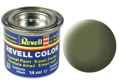 Barva Revell emailová - 32168: matná tmavě zelená (dark green mat RAF) Plastikové modely