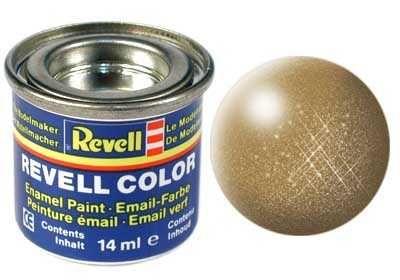 Barva Revell emailová - 32192: metalická mosazná (brass metallic) Plastikové modely