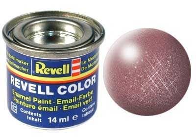 Barva Revell emailová - 32193: metalická měděná (copper metallic) Plastikové modely