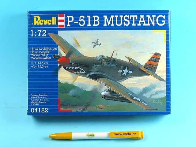 a7a968213 Plastic ModelKit letadlo 04182 - P-51 B Mustang (1:72) Plastikové modely