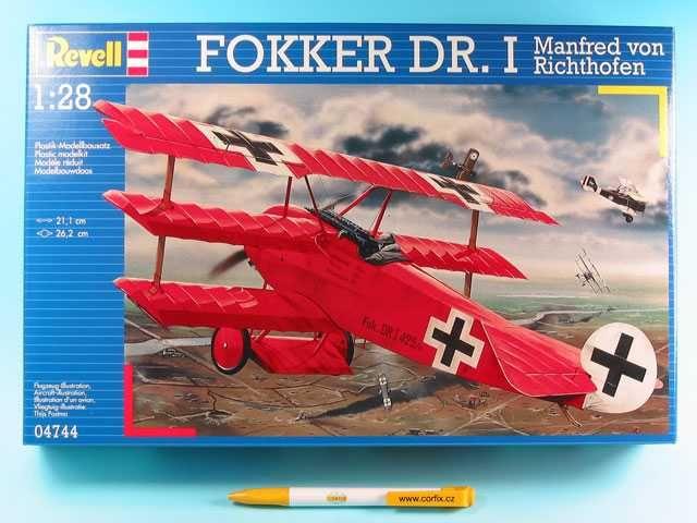 Plastic ModelKit letadlo 04744 - Fokker Dr.I 'Richthofen' (1:28) Plastikové modely