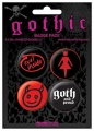 Placka set - Gothic - 4x38mm