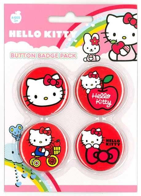 Placka set - Hello Kitty 4x38mm Plastikové modely
