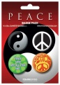 Placka set - Peace - 4x38mm