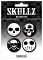 Placka set - Skullz - 4x38mm