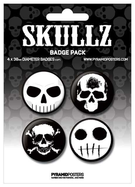 Placka set - Skullz - 4x38mm Plastikové modely