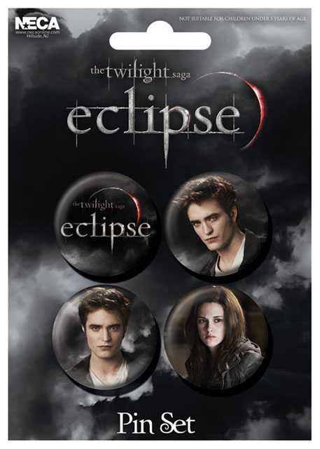 Placka set - Twilight saga - Eclipse - 4x38mm Plastikové modely