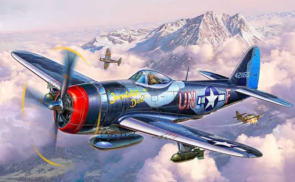 Plastic ModelKit letadlo 03984 - P-47 M Thunderbolt (1:72) Plastikové modely