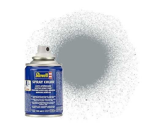 Barva Revell ve spreji - 34176: matná světle šedá (light grey mat USAF) Plastikové modely