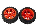 REVELL - REVELLUTIONS (47207) - Set 2x Wheel for Monster, orange