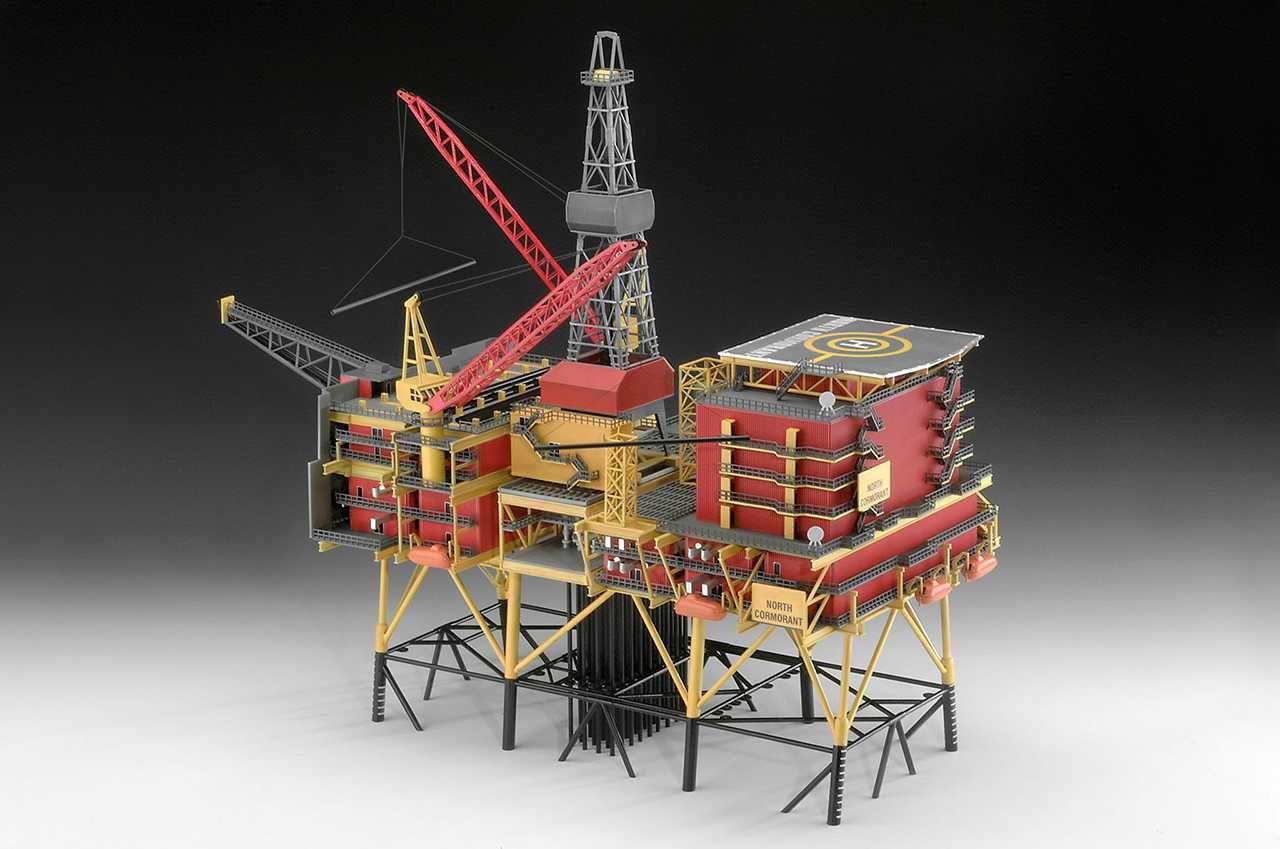 "Plastic ModelKit ropná plošina Limited editions 08803 - Oilrig ""North Cormorant"" (1:200) Plastikové modely"